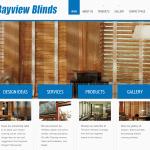 Web design - bayview blinds